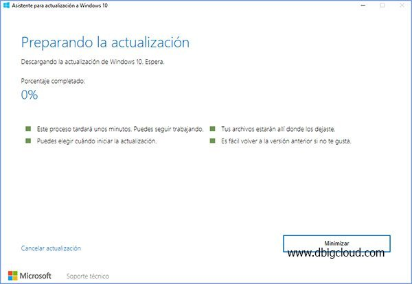 preparando actualizacion windows 10 Fall Creators
