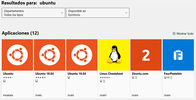 ubuntu store windows 10